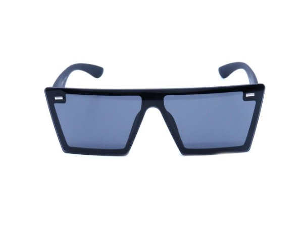 Óculos Solar Preto Fosco com Lente Fumê - JQ7908C1