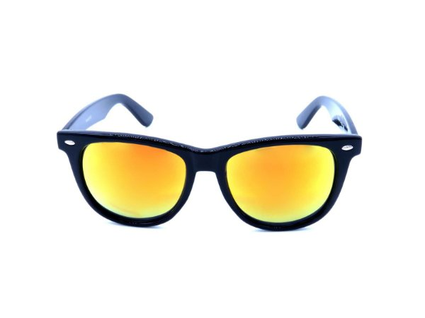 Óculos Solar Prorider Preto com Lente Espelhada Alaranjada - YD1601C4