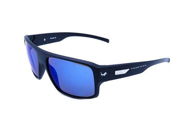 Óculos Solar Prorider Preto Fosco com Lente Espelhada Azul - YD1679C3