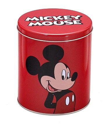 Lata Ø13x15cm Mickey Vermelha