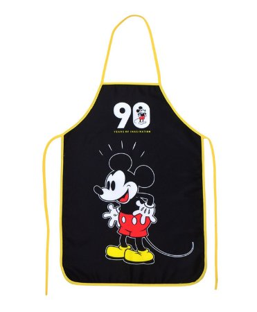 Avental Mickey 90 Anos Preto - Disney