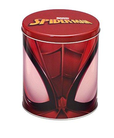 Lata Ø13x15cm Homem Aranha Vermelha - Marvel