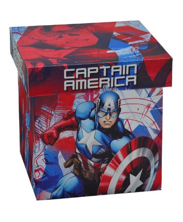 Caixa Capitão América 22x22cm - Marvel