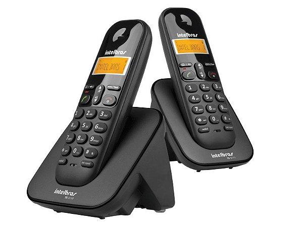 TELEFONES SEM FIO INTELBRAS ICON TS3112 PRETO C/ IDENT. DE CHAMADAS + RAMAL