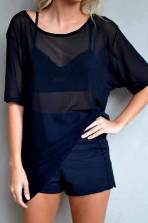 CAMISETA TULE TACI BLACK OVERSIZED