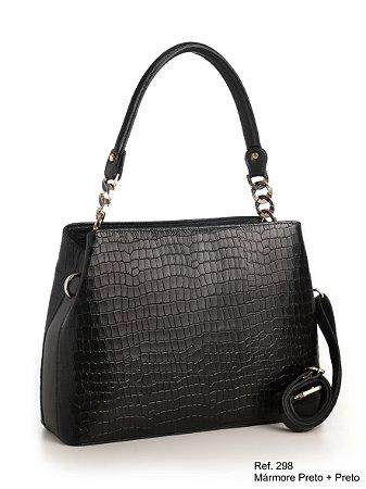 Bolsa em couro Ref 298 preto