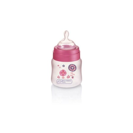 Mamadeira Boys & Girls PP Rosa Ortonatural 125ml Multikids Baby - BB104