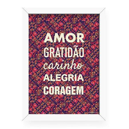 Confira O Quadro Com Frase Amor Gratidao Carinho Originatto