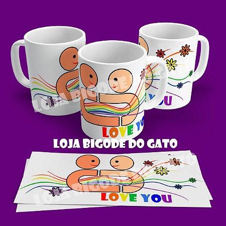 Caneca Love Arco Iris