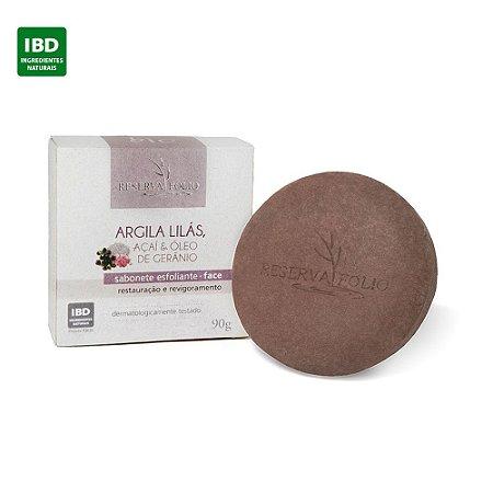 Reserva Folio Lilac Clay Scrub Soap Face - Sabonete Facial de Argila Lilás 90g