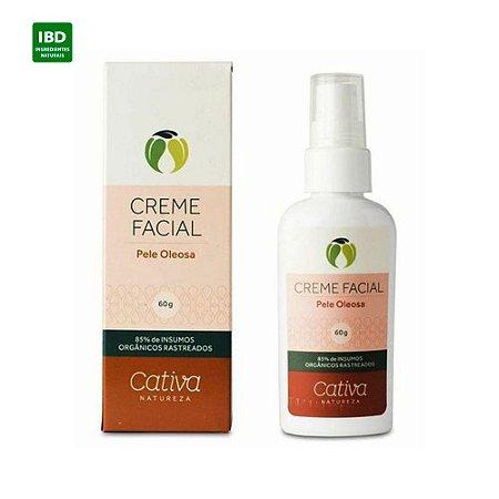 Cativa Natureza Creme Hidratante Facial Pele Oleosa 60g