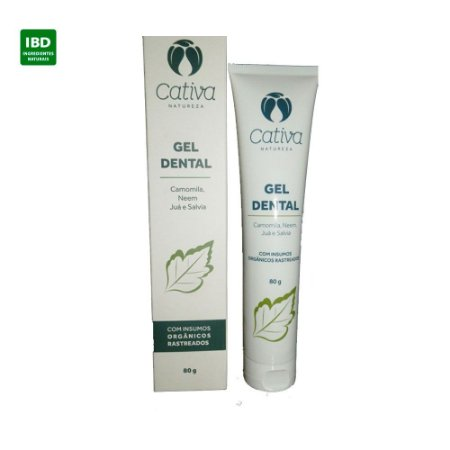 Cativa Natureza Gel Dental Camomila, Neem, Juá e Salvia 80g