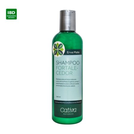 Cativa Natureza Shampoo Fortalecedor Erva Mate Cabelos Fracos 240ml