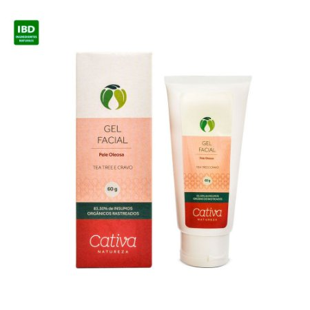 Cativa Natureza Gel Facial Pele Oleosa Tea Tree e Cravo 60 g