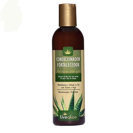 Livealoe Condicionador Fortalecedor Aloe Vera Cabelos Oleosos ou Danificados 240 ml