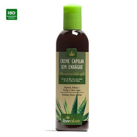 Livealoe Creme sem Enxague Fortalecedor Aloe Vera Cabelos Danificados ou com Frizz 240 ml