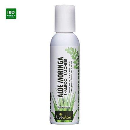 Livealoe Shampoo Sabonete Aloe Moringa 120 ml