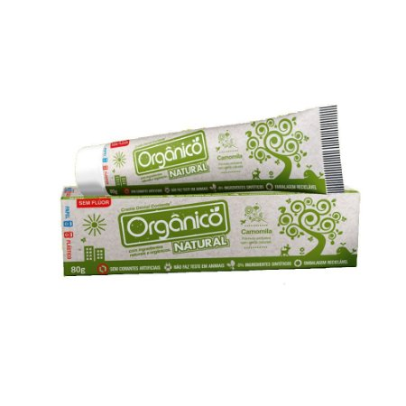 Contente Creme Dental Natural Orgânico 80 g