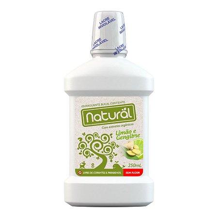 Contente Enxaguante Bucal Natural Limão e Gengibre Sem Flúor 250 ml- Vence nov-17