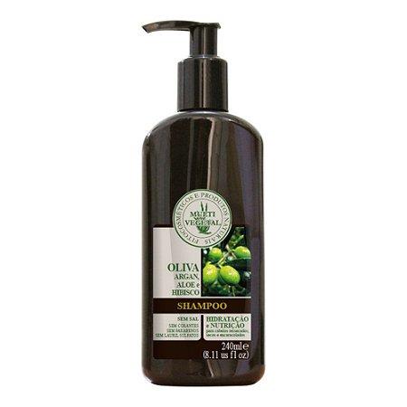 Multi Vegetal Shampoo de Oliva, Argan, Aloe e Hibisco 240 ml