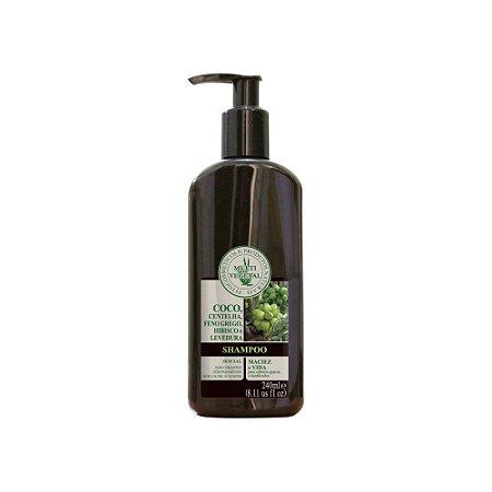 Multi Vegetal Shampoo de Coco, Centelha, Feno Grego, Hibisco 240 ml