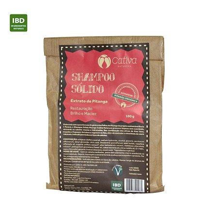 Cativa Natureza Shampoo Sólido Extrato de Pitanga Todos os Tipos de Cabelo  100 g