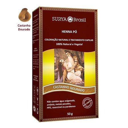 Surya Henna Pó Tintura 50 g - Cores Castanho dourado e acajú
