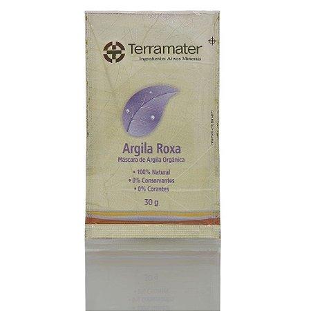 Terramater Argila Mineral Orgânica Roxa Rejuvenescimento 30g
