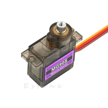 Microservos 9g Tower Pro MG90-SU Engrenagem de metal