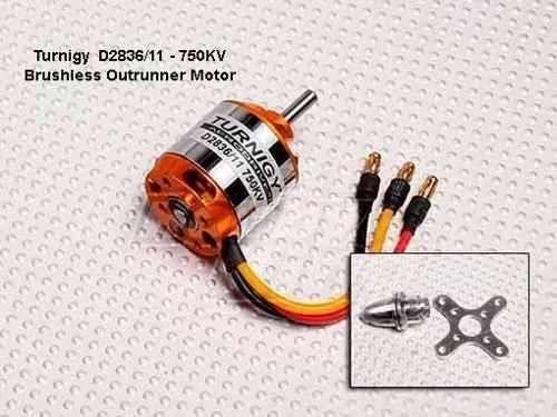 Motor Turnigy D2836/11 - 750 Kv - Brushless Outrunner