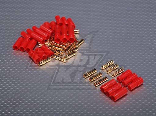 Conector HXT 4mm Gold com Protetor