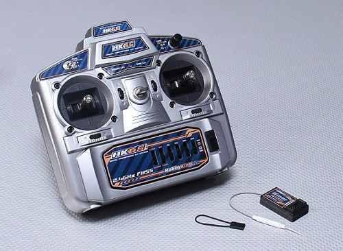 Rádio Hobbyking 2.4ghz Fhss 6 Hk6s ch Tx & Rx (modo 2)