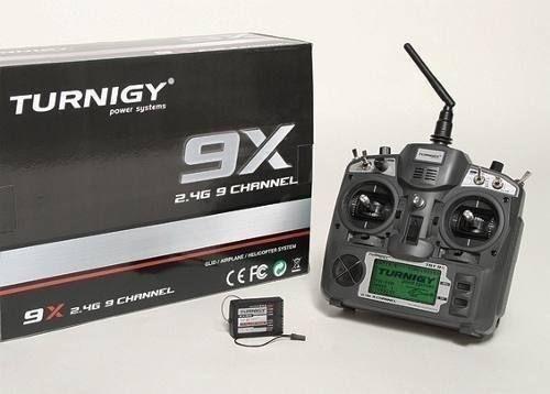 Rádio Controle Turnigy 9x 2.4ghz com Receptor