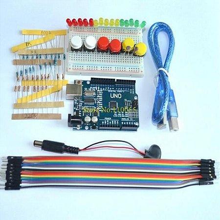 Kit starter UNO R3 mini LED Breadboard jumper