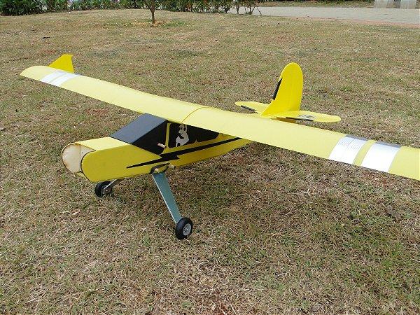 Kit Aeromodelo Pastinha Piper Artal Asa Baioneta Arf 46 Treinador
