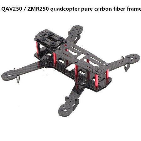 Frame QAV250/ZMR250 em fibra de carbono, unidade