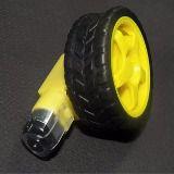 Roda E Pneu Com Motor Dc 3 - 6v Com Redução Robotica Arduino