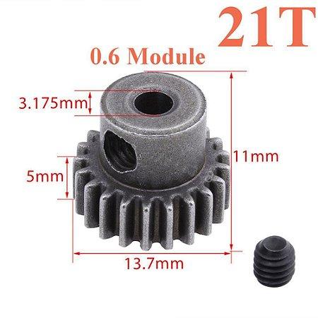 Engrenagem 11184 21T em metal diferencial de motor 5MM 64T para HSP RC 1/10 unidade
