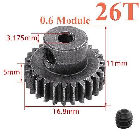 Engrenagem 26T 11184 em metal diferencial de motor 5MM 64T para HSP RC 1/0 unidade.