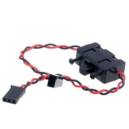 Chave liga/desliga com conectores padrão Futaba