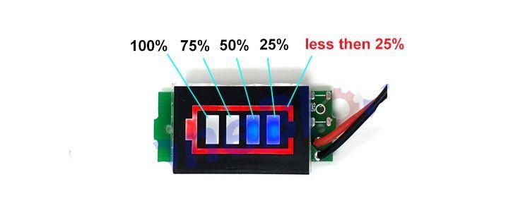 Voltímetro para baterias 2S unidade