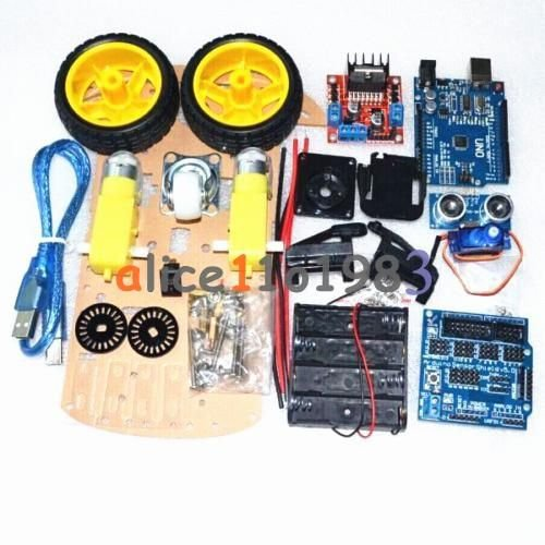 Robot Motor de rastreamento Carro Inteligente Smart Robot Car Chassi Kit 2WD Ultrassônico Arduino Mcu
