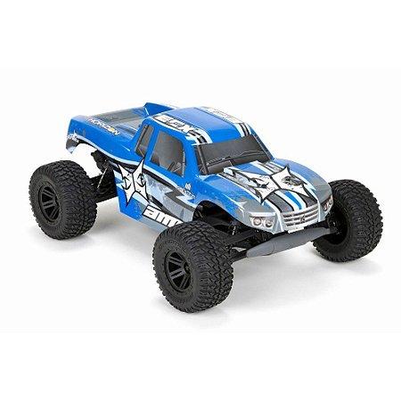 Automodelo Elétrico ECX AMP Monster Truck Azul (RTR)
