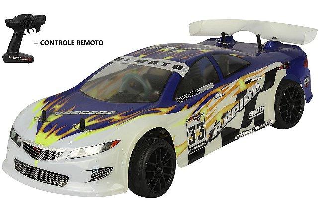 Automodelo Combustão Himoto Rapida GT AZUL (2 Marchas)