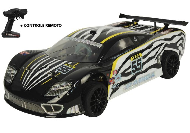 Automodelo Combustão Himoto Rapida GT PRETO (2 Marchas)
