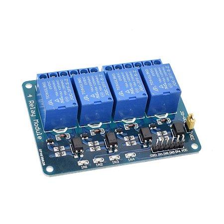 Optoaclopador 4 vias 5 volts