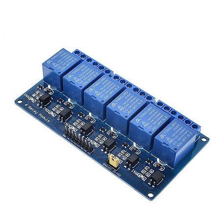 Optoaclopador 6 canais 12 volts