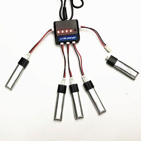 Baterias/carregador lipo 3,7 volts.