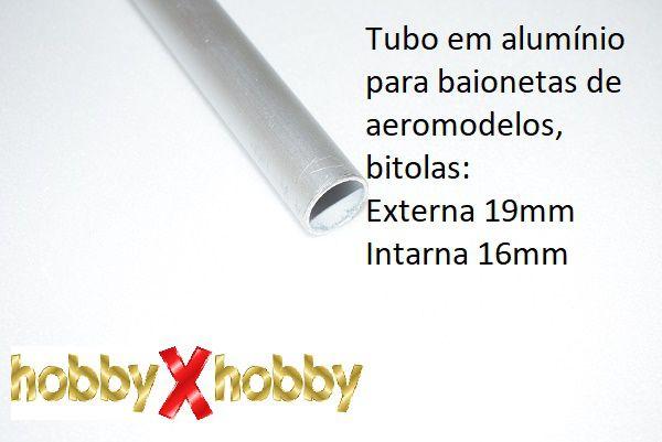 Tubo em alumínio para baionetas de aeromodelos 19mm