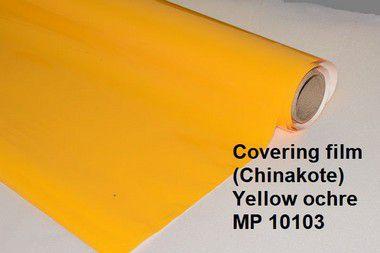 Chinakote amarelo ocre, covering filme, termoadesivo para entelagem de aeromodelos, Metro